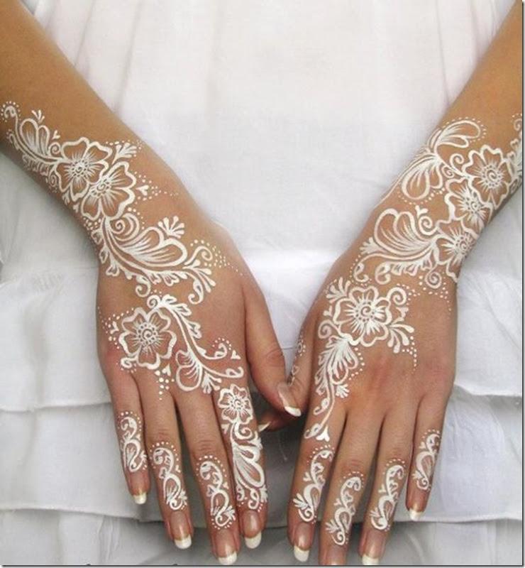 tatouage henne blanc numéro 2