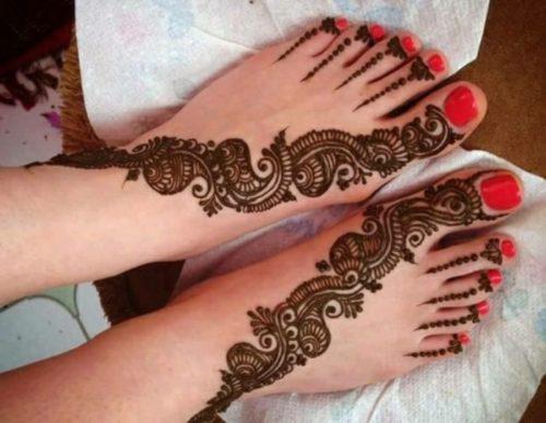 tatouage au henné noir modèle 08