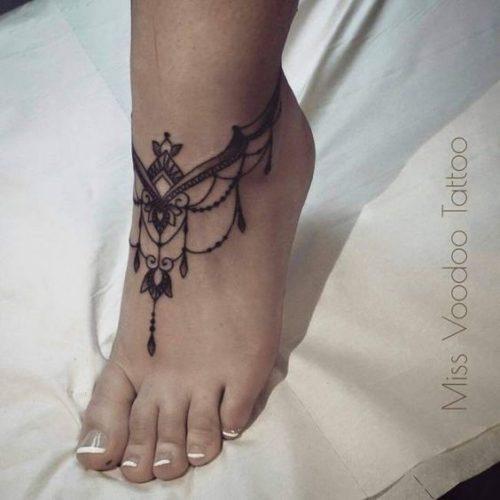 tatouage au henné noir modèle 09